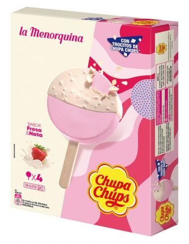 Chupa chups nata y fresa