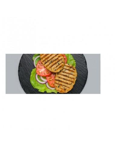 Hamburguesa de berenjena y calabacín